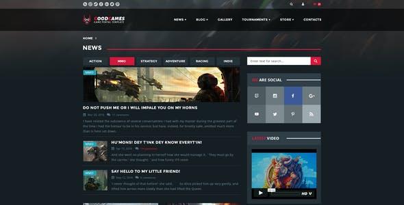 Game News Website
